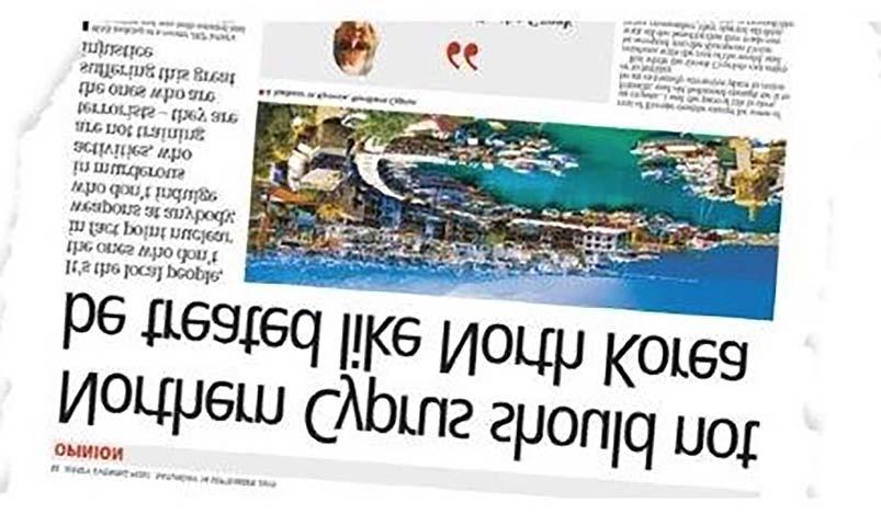 18 Thursday 31 October 2019 Roger Bara s article on northern Cyprus misleading The Turkish propaganda to misinform reached the newspapers of Jersey earlier this month with former BBC journalist,