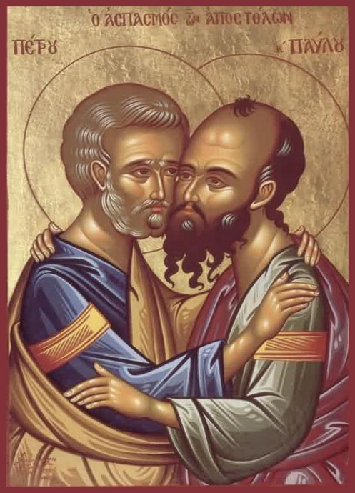 St Peter, the Leader of the 12 Without a doubt this icon Apostles and of St Paul, the reveals the complementary Apostle to the Gentiles. St nature of their ministry.