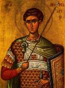 SAINTS AND FEASTS The Holy Great Martyr Demetrius the Myrrh-streamer - October 26 Saint Demetrius was a Thessalonian, a most pious son of pious and noble parents, and a teacher of the Faith of Christ.