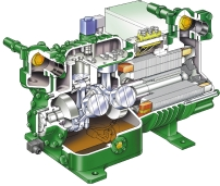 The technical highlights of BITZER Semi-hermetic compressors, 6 and 8-cylinder series the leading technology with displacement from 8 to m 3 /h (Hz) Universal R3a, RA, R7A, R7C, R one compressor