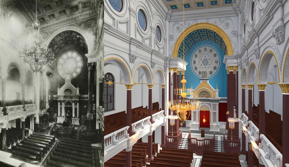 Appendix Figure 2.15 : Visualization of assumptions. Figure 2.16: Comparison between historical photograph and interior rendering.