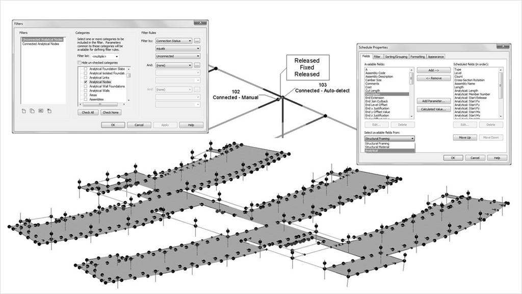 117 for color images). Figure 2.1: Architectural Design in Revit. Figure 2.2: Example of an analytical model.