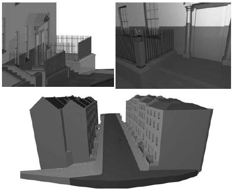 CityGML is and open standard 3D data format, with a detailed semantic framework, more focused on city modeling.