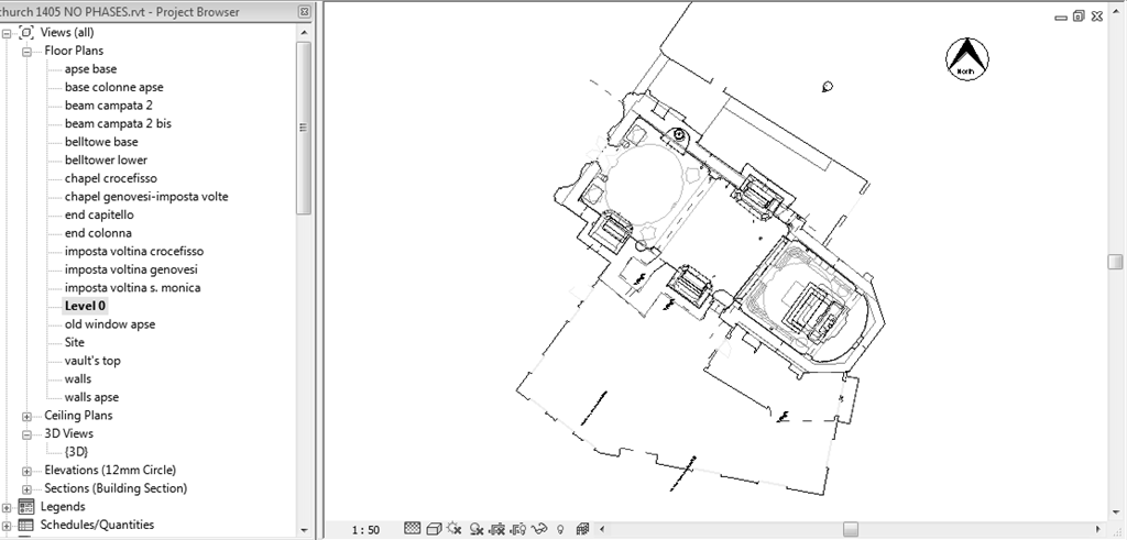 Chapter 3: Case Study-The Church of Santa Maria (Scaria, Italy) positions of the elements) derive from the drawings made based on the laser scanning survey. Figure 3.