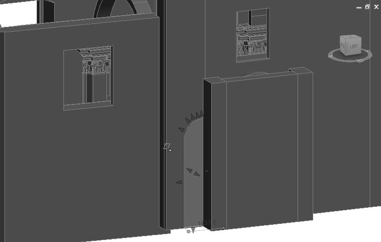 Chapter 3: Case Study-The Church of Santa Maria (Scaria, Italy) Figure 3.24: Screenshot from Revit - one of the old openings of the church, designed as a simple extrusion. Table 3.