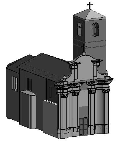 Chapter 3: Case Study-The Church of Santa Maria (Scaria, Italy) Figure 3.48: Different views of the model after phases were applied. 3.5
