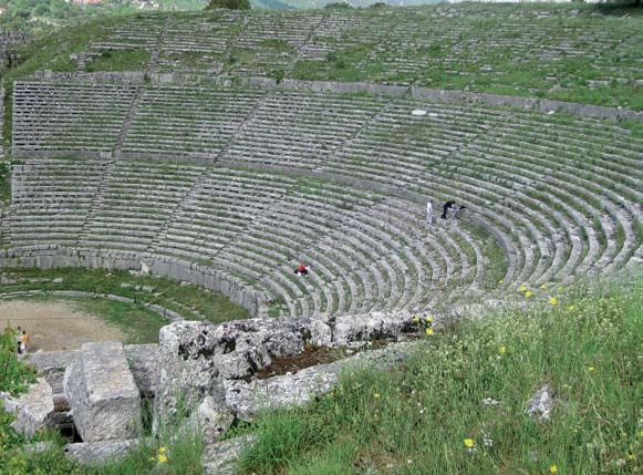 Dodona Theater One of the largest theaters of antiquity, with a capacity of 17,000, it was part of the Dodona sanctuary. Co