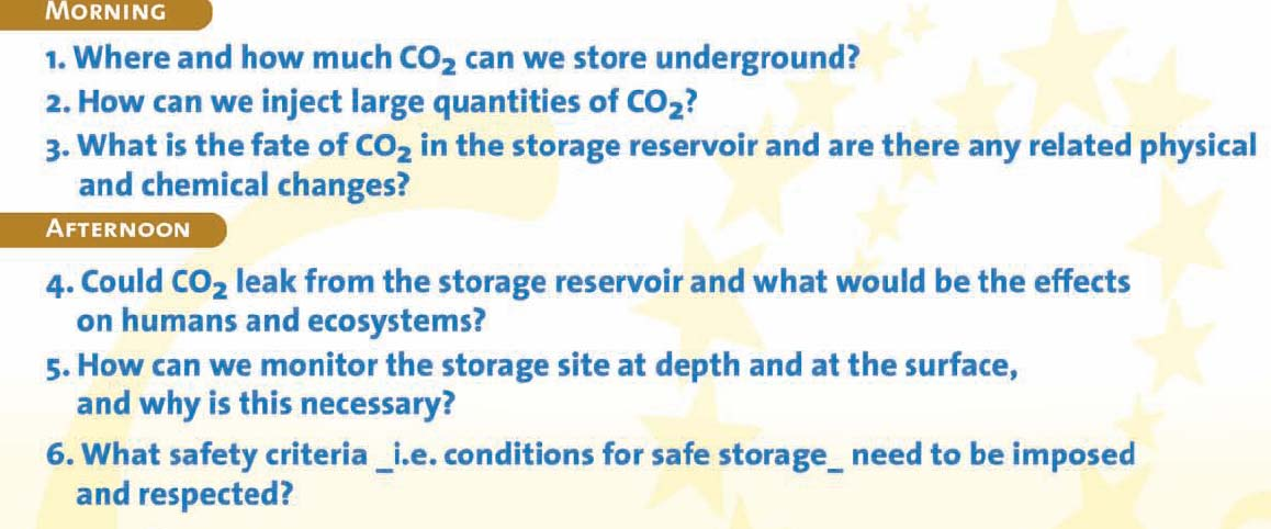 Issues and strategies for controlling GHG emissions Industrial achievements in the field of CO2 capture and storage Future developments: