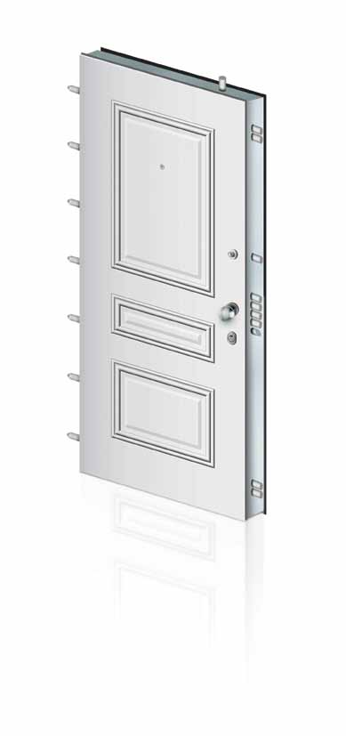 Technical Specif ications of Security Doors ETEM 14 - ETEM 18 ETEM 18 Φύλλο πόρτας με διπλή θωράκιση.