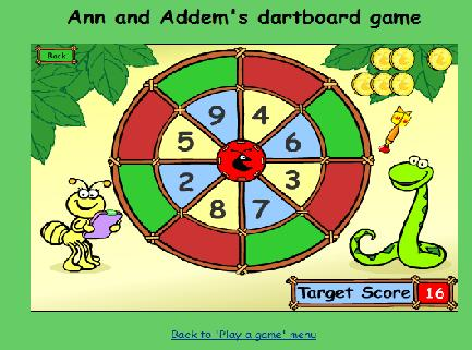 3.3 Ιστοσελίδα: http://www.bbc.co.uk/schools/numbertime/games/dartboard.