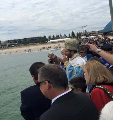 D ivine interven on seems to have been the cause of fine weather on Sunday, despite dire predic ons for heavy rain, as thousands of Hellenes gathered at Henley beach to celebrate the Blessing of the