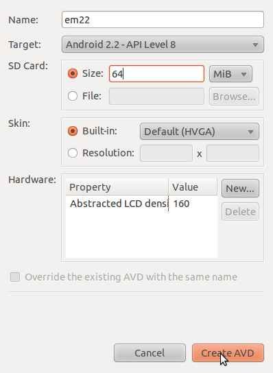 SDK and AVD Manager 5:
