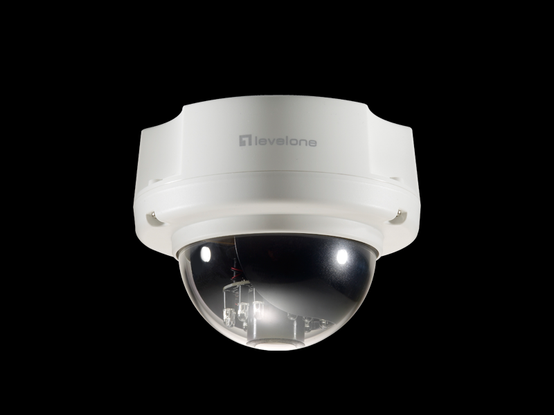 FCS-3052 Version: 1 Κάμερα δικτύου IP 3-Megapixel Ημέρα/νύχτα PoE Dome The LevelOne FCS-3052 is a 3-Megapixel dome network camera with video resolution of up to 2032x1536. The camera supports H.