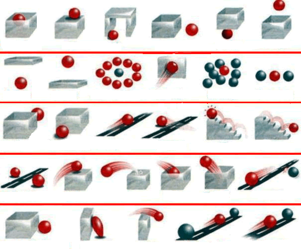 2.1.2 Prepositions of place Where is the red ball? www.easypacelearning.com Try to guess (if you are not certain) which preposition relates to which of the pictures above. 1. above 11. from to 20.