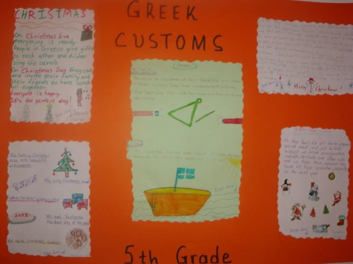 GREEK CUSTOMS These are two collages we created on Greek customs and