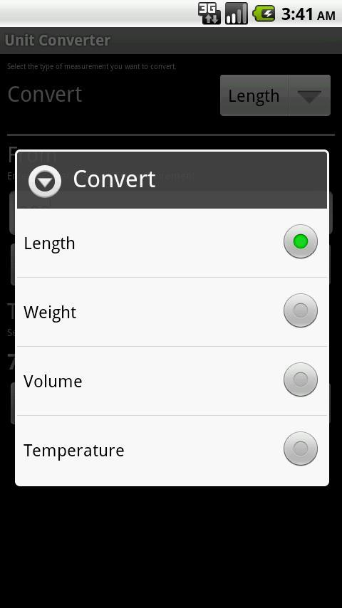 1. Measurement Unit Converter (Google Play) Σύνδεσμος: http://bit.