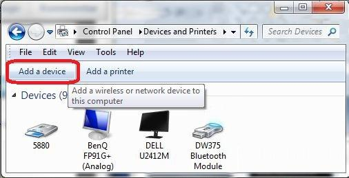 "14). Select the device ""Alpine CD Receiver"" in the ""Add a device"" window (Εικ."