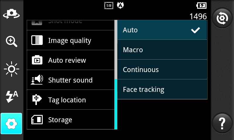 NOTE: This function is only available when GPS is active. Select storage to save images. TIP!