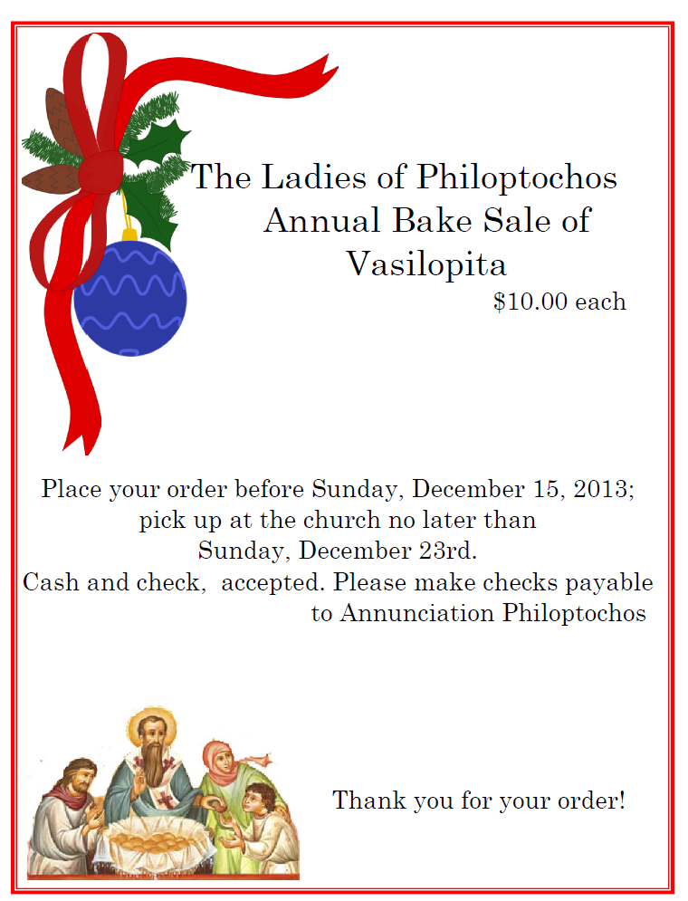 The Greek Orthodox Ladies Philoptochos Society, Inc., is the duly accredited women's philanthropic society of the Greek Orthodox Archdiocese of America.