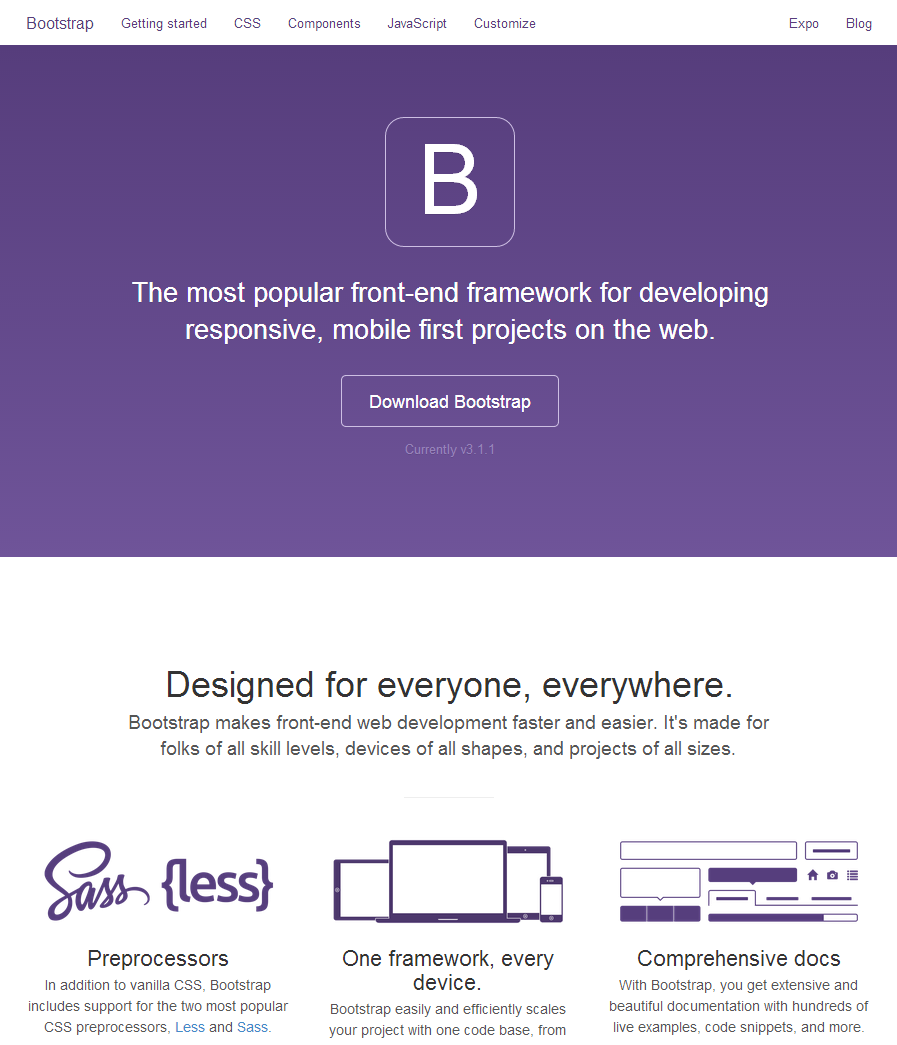 Twitter Bootstrap http://getbootstrap.