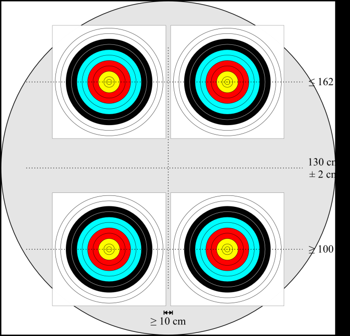 40cm Target Face for Indoor (see image 12: 4 x 4 40cm