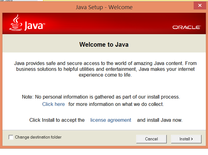 (Επιλέγουμε αντίστοιχα Agree and Continue--> Download Java--> Agree and Start Free