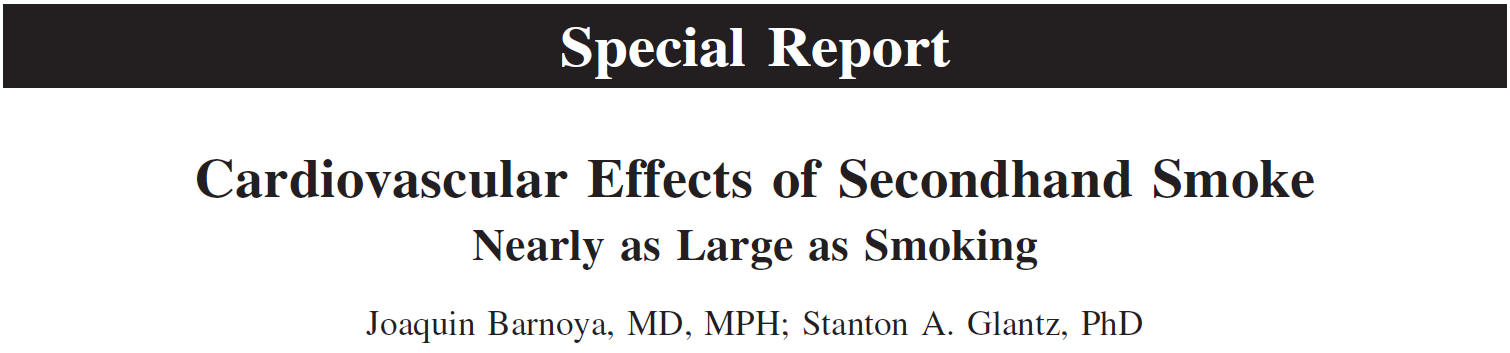 Effects of SHS on the Cardiovascular System Platelet activation Endothelial dysfunction Inflammation & infection Atherosclerosis Low HDL levels Plaque instability Increased oxidized LDL Increased