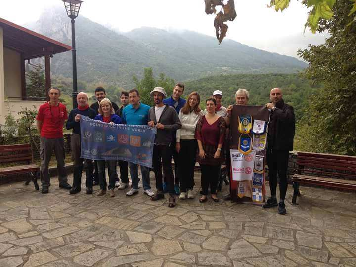 CLIMBING MOUNT OLYMPUS The 2484 Rotary District (Northern Greece) organized an event at 25th to 27th of September 2015.