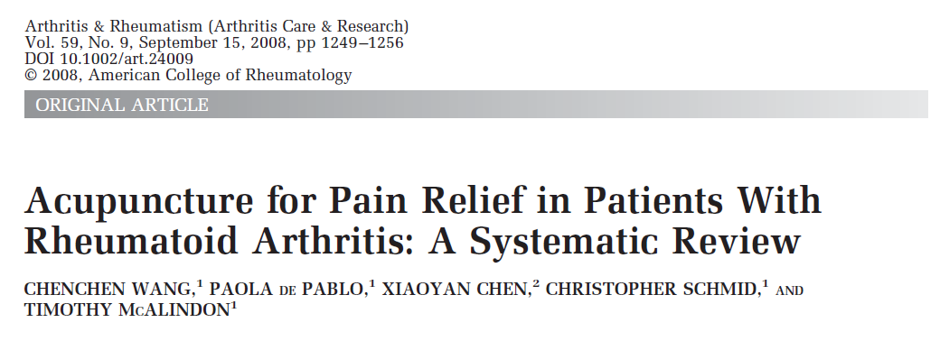 Christie A, Jamtvedt G, Dahm KT, et al. Effectiveness of nonpharmacological and nonsurgical interventions for rheumatoid arthritis: an overview of systematic reviews. Phys Ther. 2007;87:1697 1715.