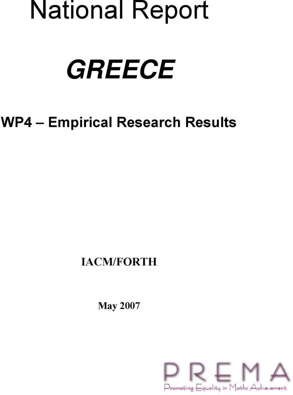 Empirical Research