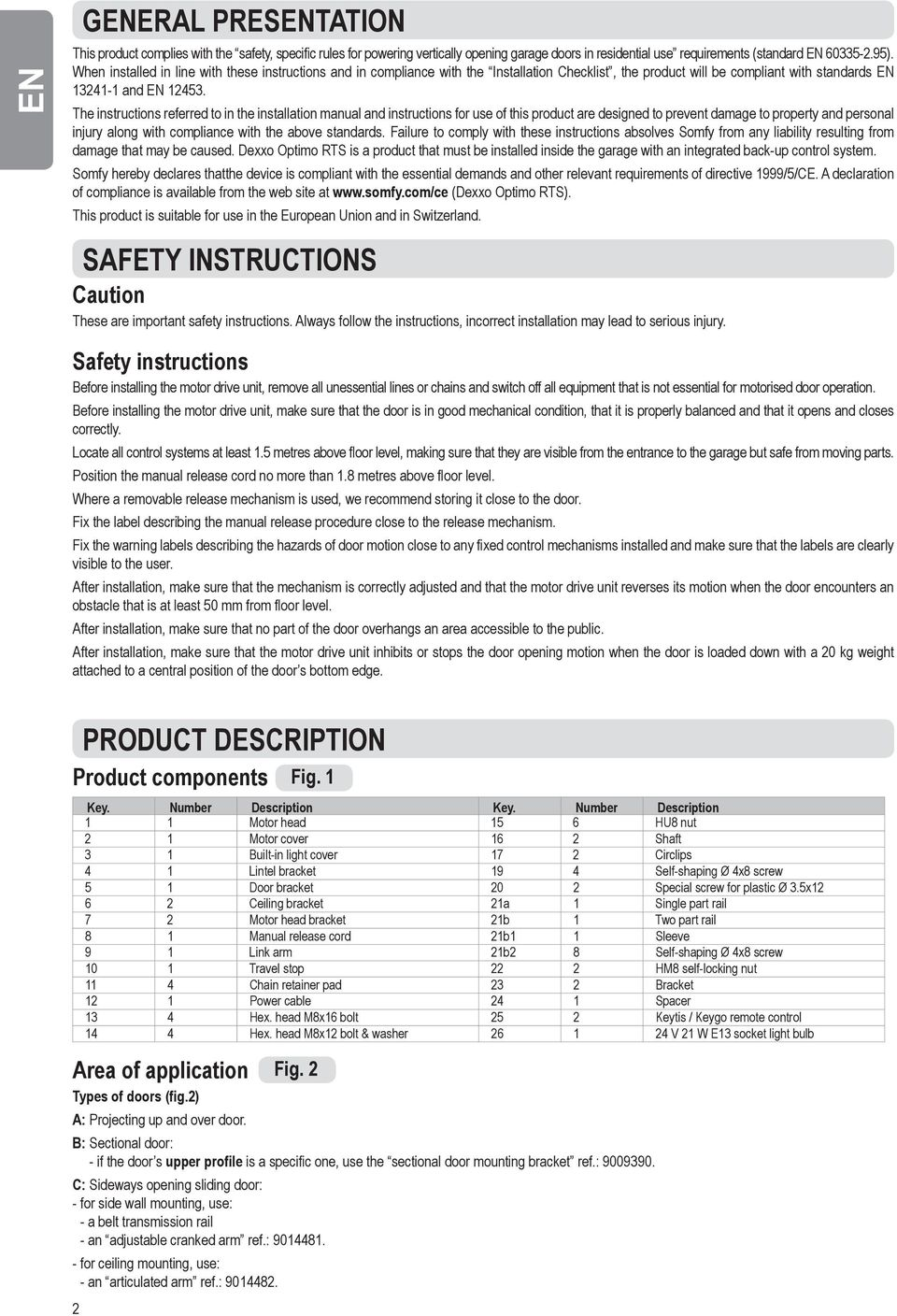 somfy remote control instructions