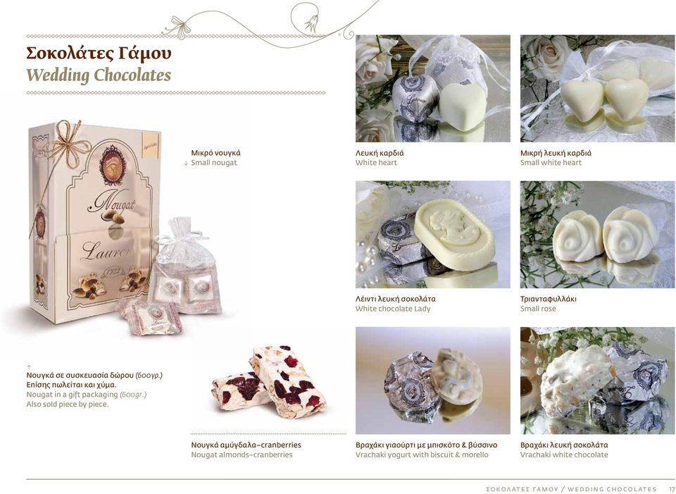 Nougat in a gift packaging (600gr.) Also sold piece by piece.
