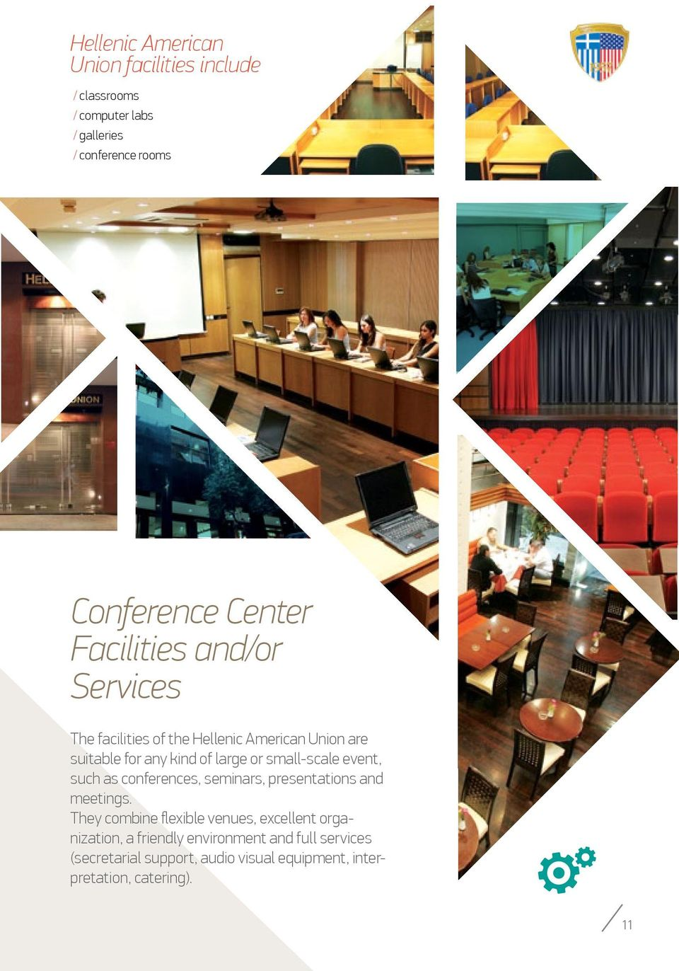 small-scale event, such as conferences, seminars, presentations and meetings.