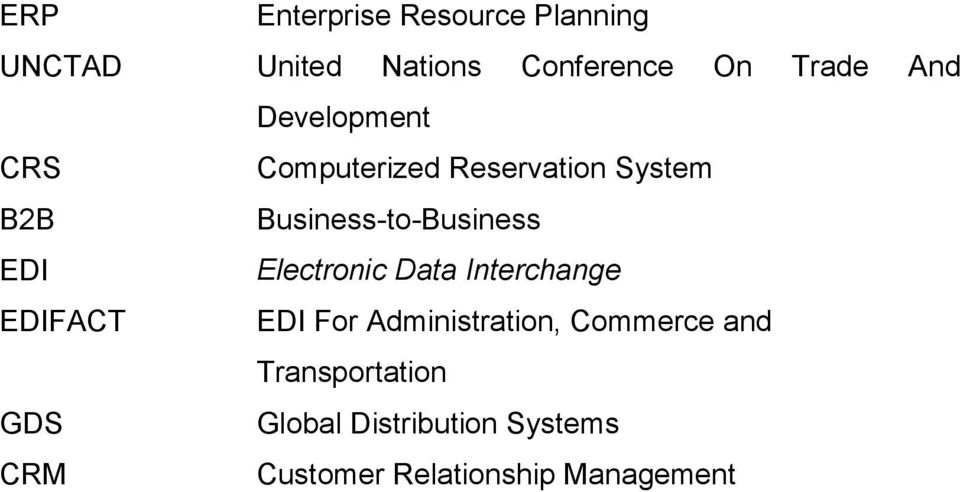 EDI Electronic Data Interchange EDIFACT EDI For Administration, Commerce and