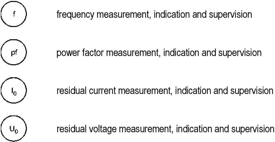 residual current measurement, indicatin and