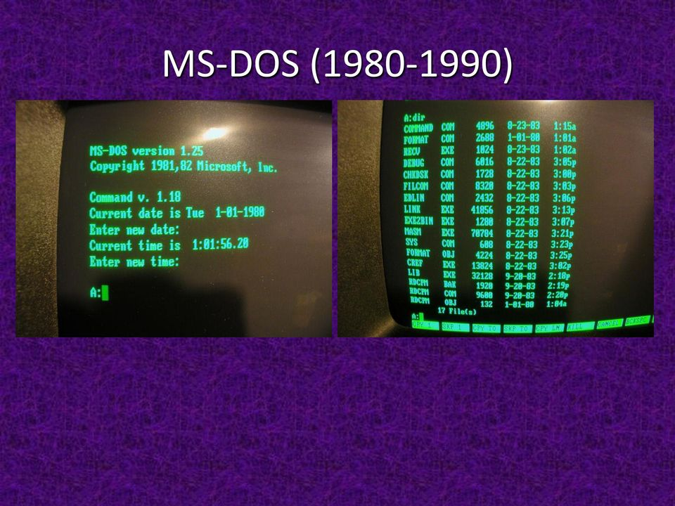 ) MS-DOS