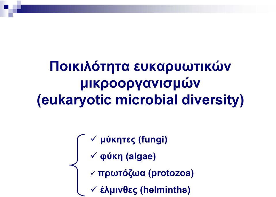microbial diversity) μύκητες