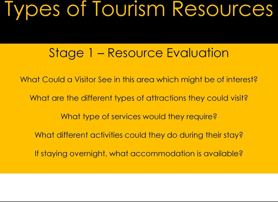 What are the different types of attractions they could visit?