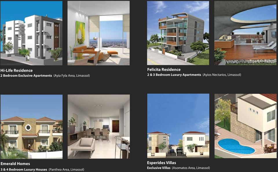 Nectarios, Limassol) Emerald Homes 3 & 4 Bedroom Luxury Houses