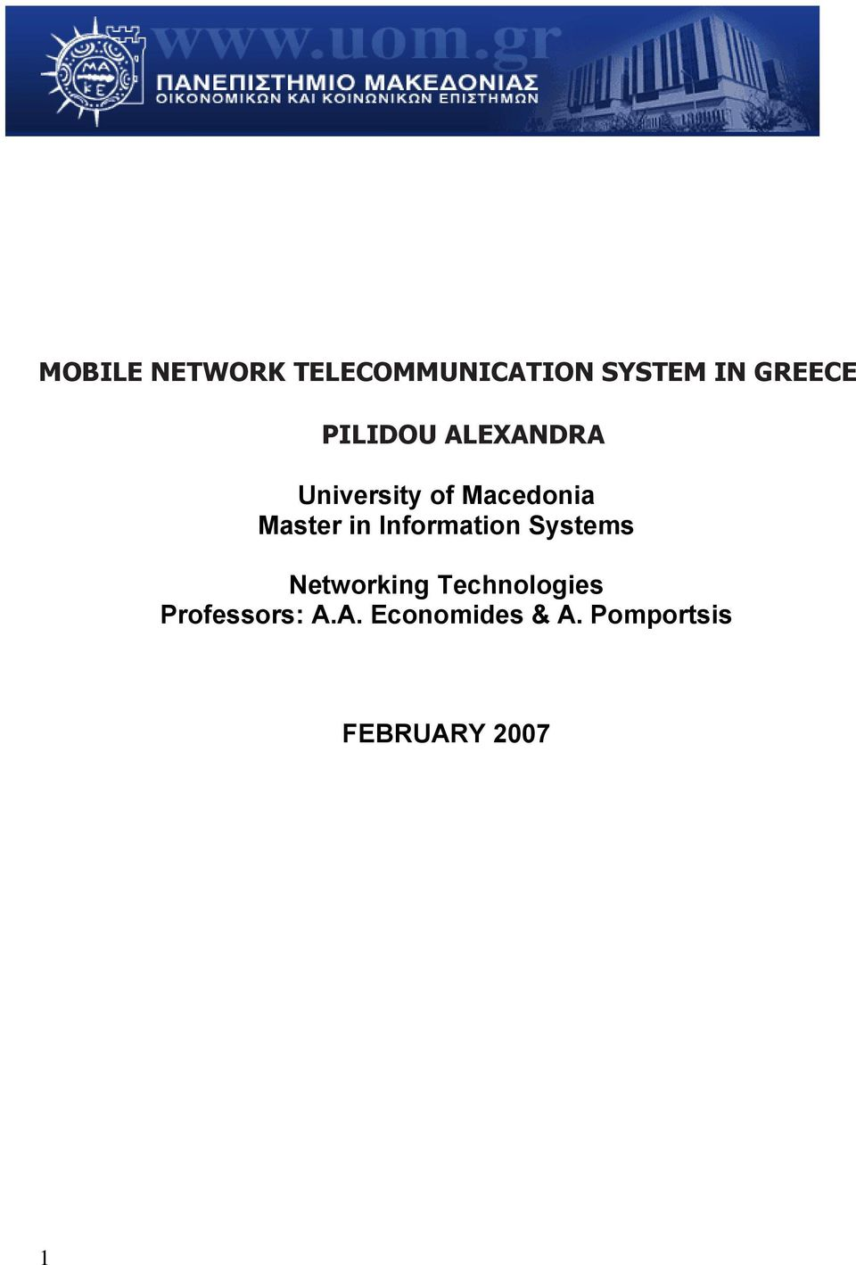 Information Systems Networking Technologies