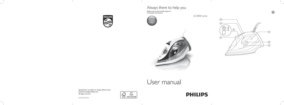 User manual Specifications are subject to change