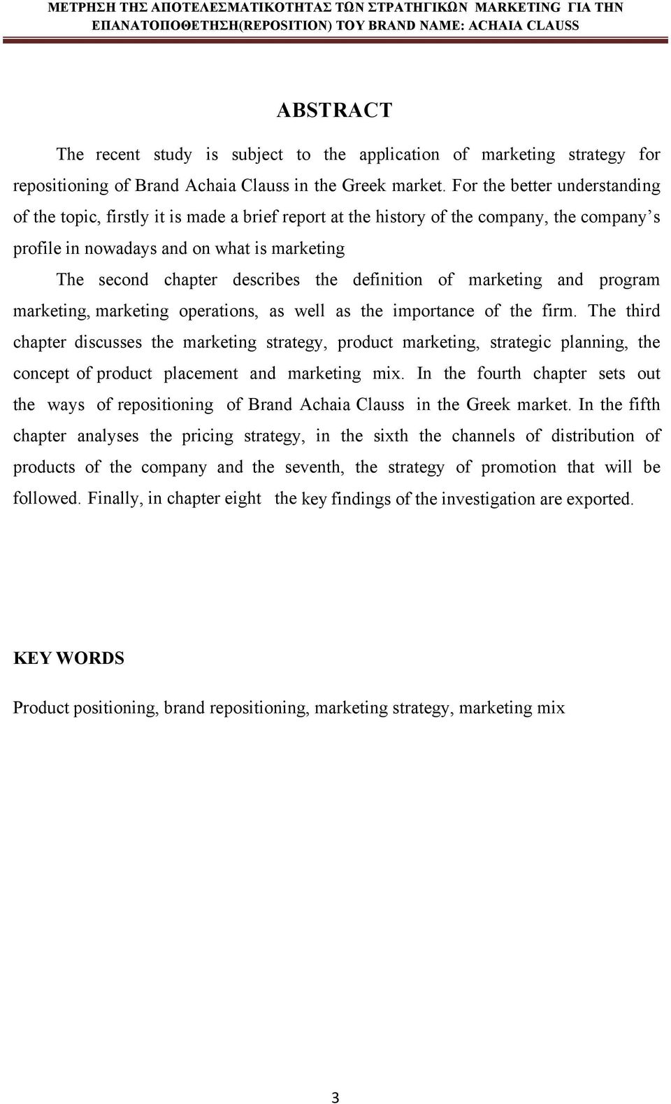 definition of marketing and program marketing, marketing operations, as well as the importance of the firm.