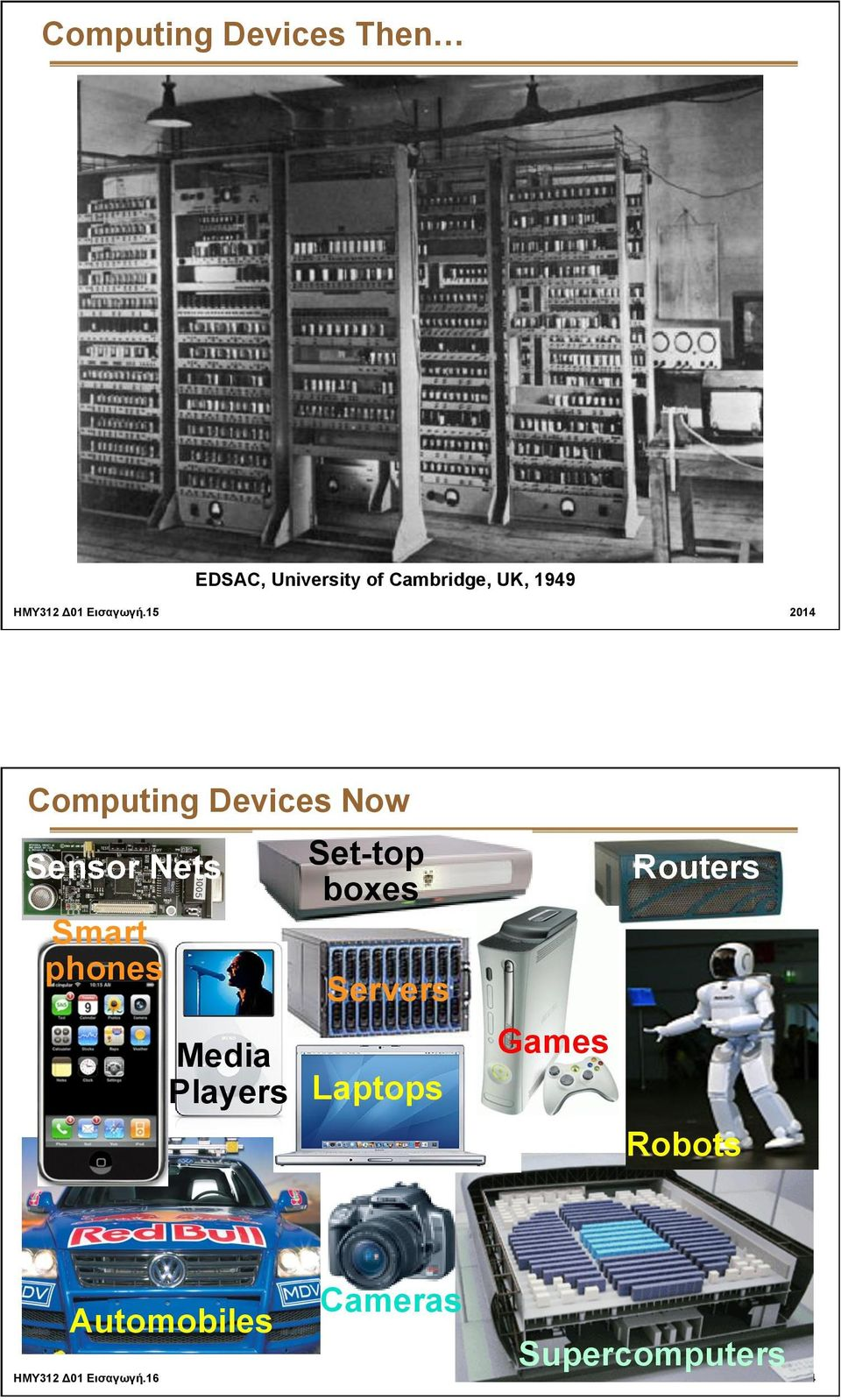 15 2014 Computing Devices Now Sensor Nets Smart phones Media