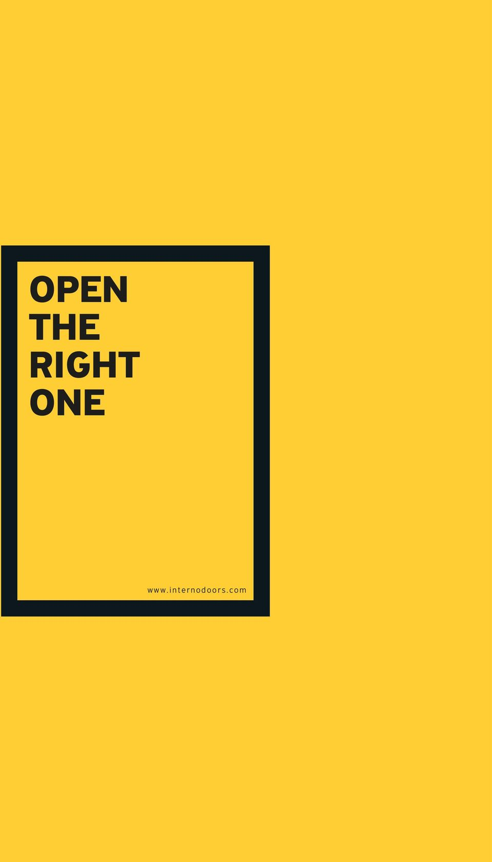 OPEN THE RIGHT