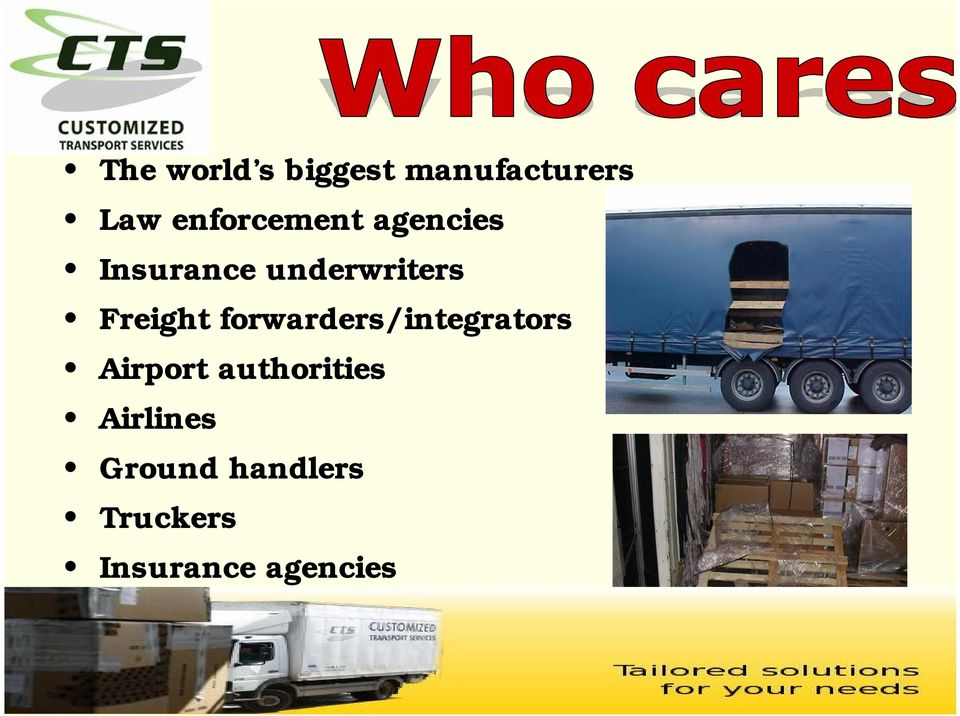 Freight forwarders/integrators Airport