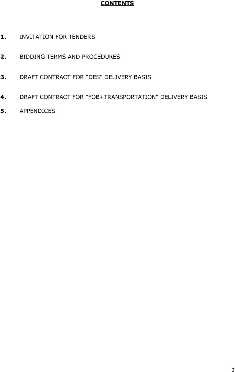DRAFT CONTRACT FOR DES DELIVERY BASIS 4.