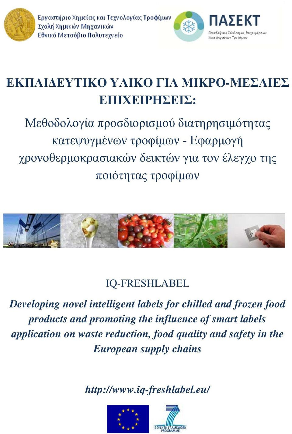 Developing novel intelligent labels for chilled and frozen food products and promoting the influence of smart