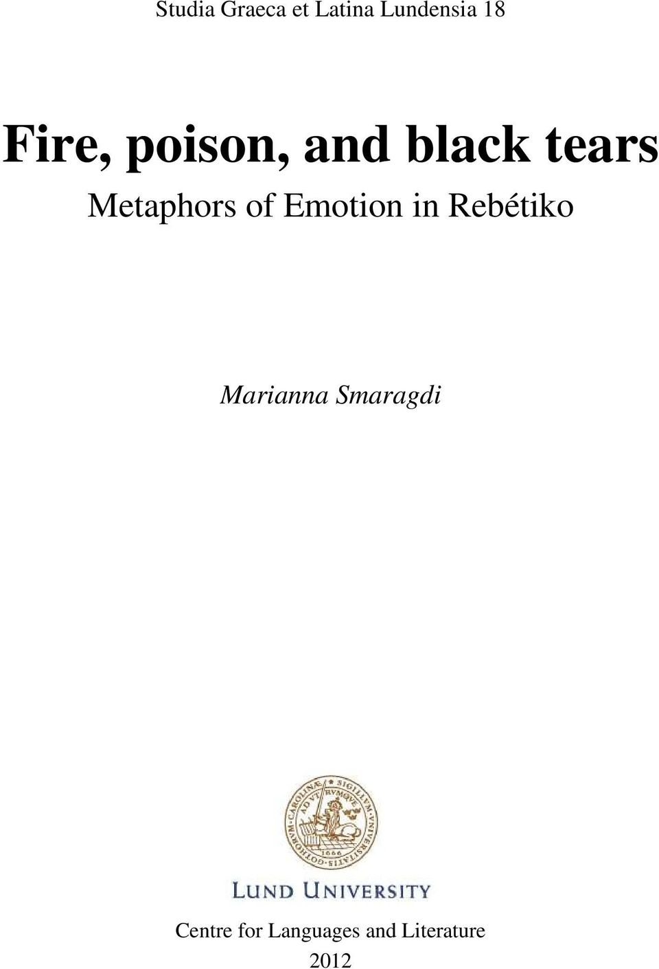 of Emotion in Rebétiko Marianna