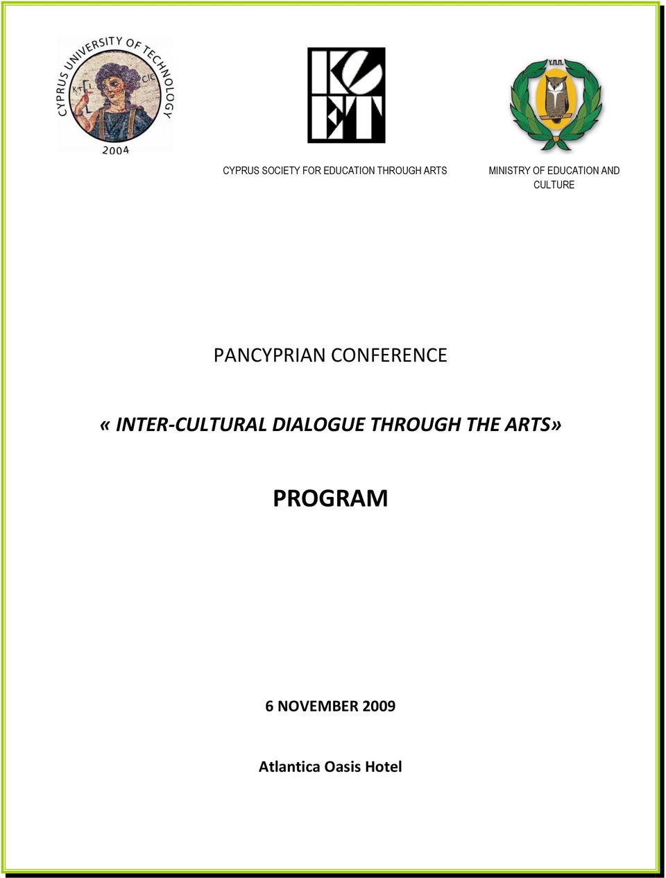 CONFERENCE «INTER CULTURAL DIALOGUE THROUGH