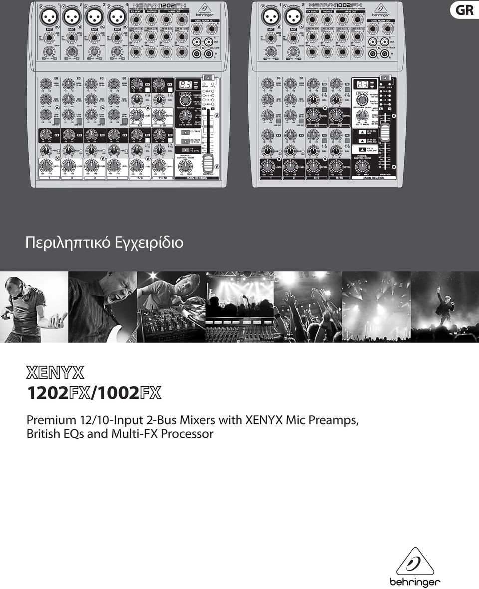 Mixers with XENYX Mic Preamps,